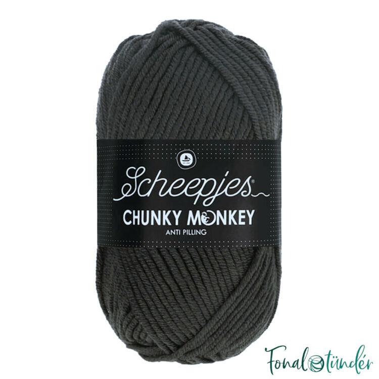 Scheepjes Chunky Monkey 2018 Dark Grey - sötétszürke akril fonal - acrylic yarn