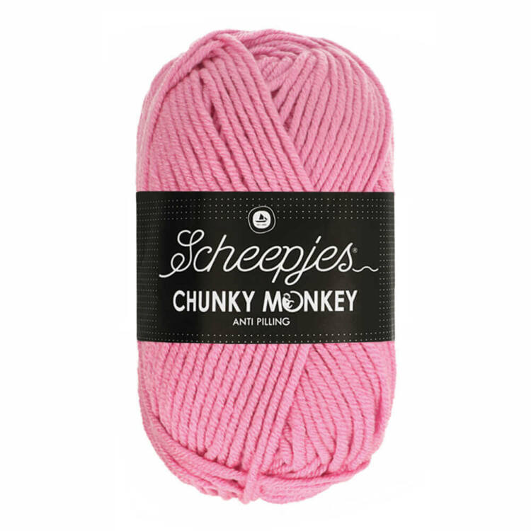 Scheepjes Chunky Monkey 1241 Rose - rózsaszín akril fonal - pink acrylic yarn