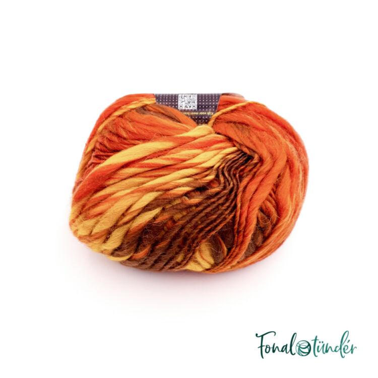 Scheepjes Felina 002 - narancs-barna gyapjú fonal - orange-brown gradient yarn blend
