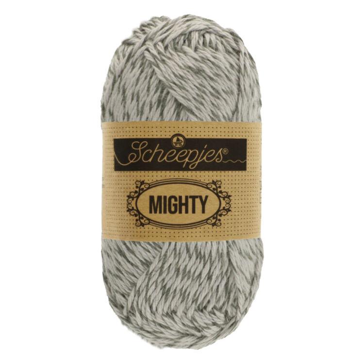 Scheepjes Mighty 754 Rock - szürke pamut-juta fonal - gray yarn