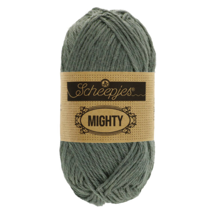 Scheepjes Mighty 755 Mountain - szürke pamut-juta fonal - gray yarn