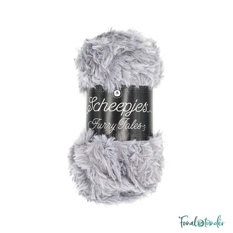 Scheepjes Furry Tales 978 Cindarella - világos szürke bundás fonal - light-gray fluffy yarn