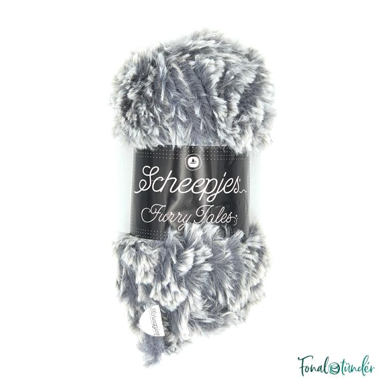 Scheepjes Furry Tales 979 Big Bad Wolf - szürke bundás fonal - gray fluffy yarn
