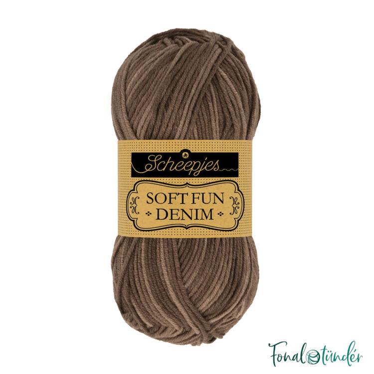Scheepjes Softfun Denim 510 - brown - barna - pamut-akril fonal - yarn blend