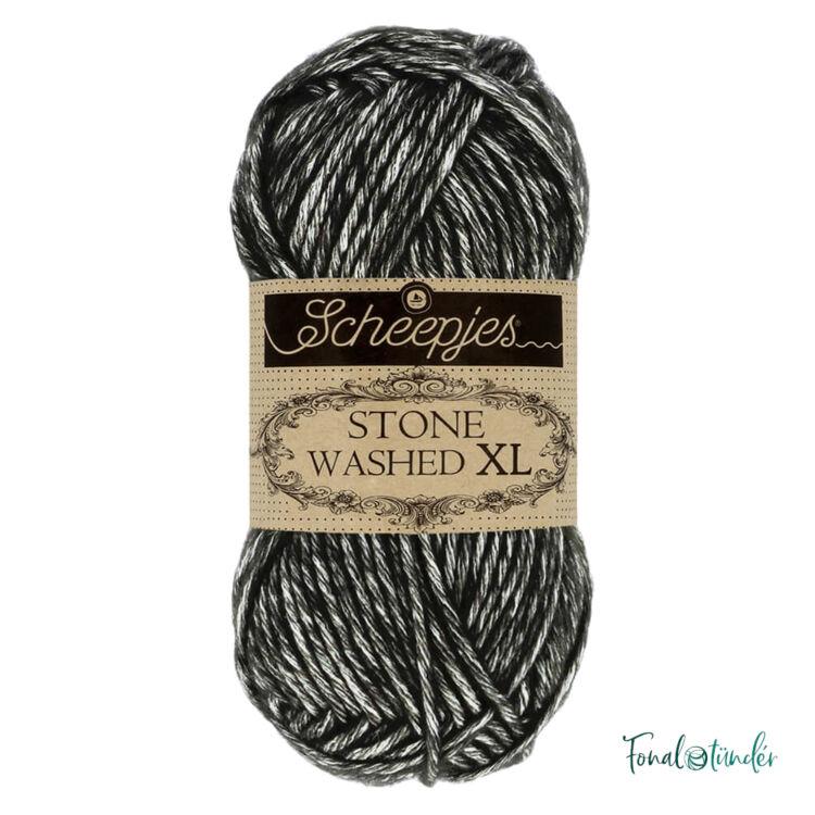 Scheepjes Stone Washed XL 843 Black Onyx - pamut fonal - cotton yarn