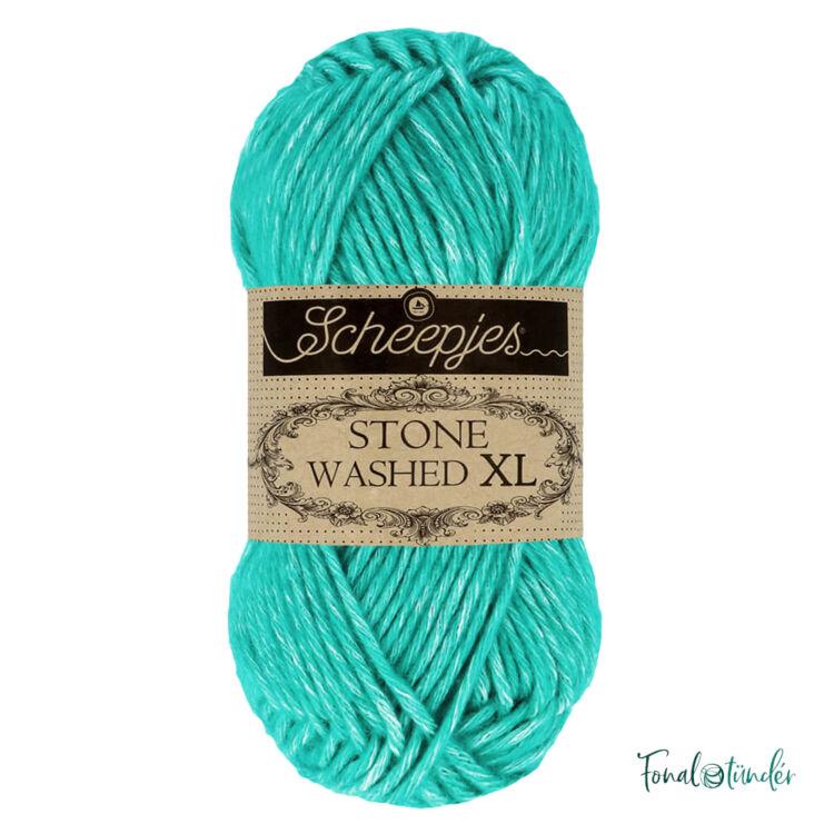 Scheepjes Stone Washed XL 864 Turquoise -  pamut fonal - cotton yarn