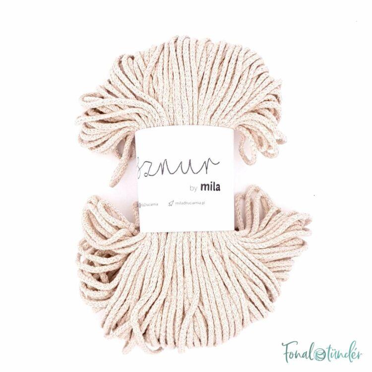 MILA Sznur cotton cord - light beige - pamut zsinórfonal - világos drapp - 3mm