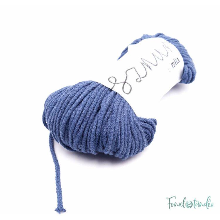 MILA Sznur cotton cord - jeans blue - pamut zsinórfonal - farmerkék színű - 3mm