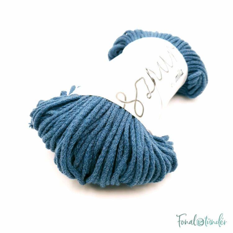 MILA Sznur cotton cord - petrol blue - pamut zsinórfonal - sötétkék színű - 3mm