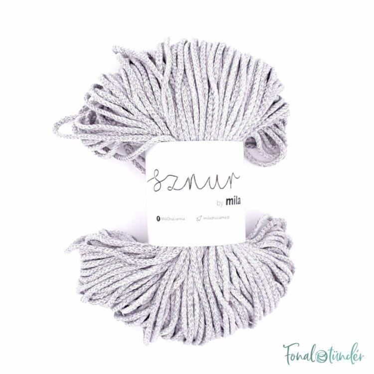 MILA Sznur cotton cord - gray melange - pamut zsinórfonal - világos szürke - 3mm