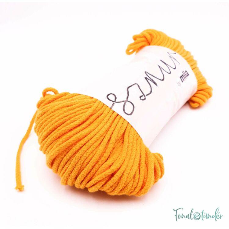 MILA Sznur cotton cord - sun-yellow - pamut zsinórfonal - napsárga - 3mm