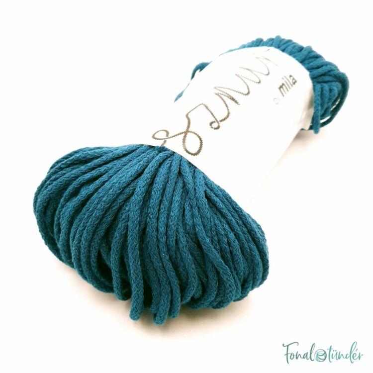 MILA Sznur cotton cord - ocean blue - pamut zsinórfonal - tengerkék színű - 3mm