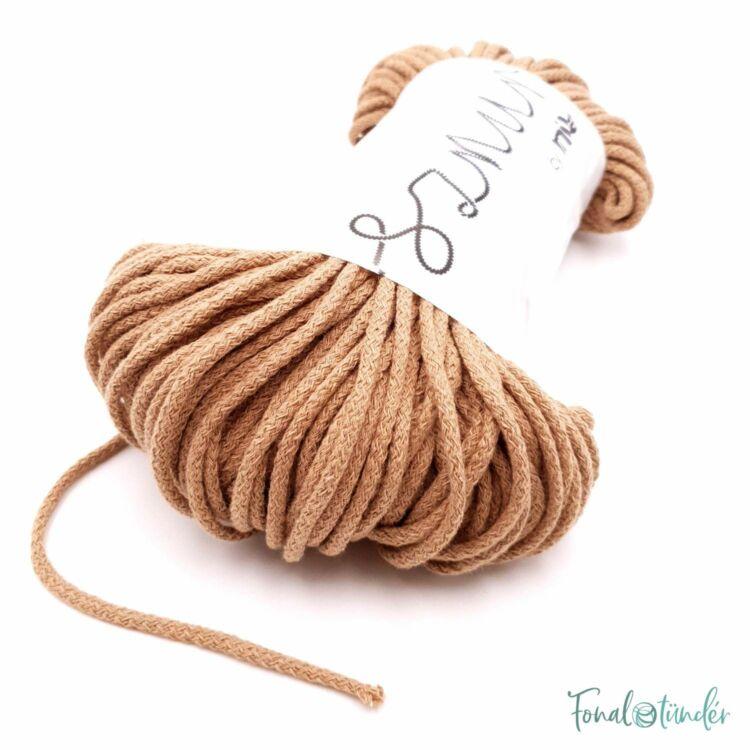 MILA Sznur cotton cord - toffee - pamut zsinórfonal - karamella színű - 3mm