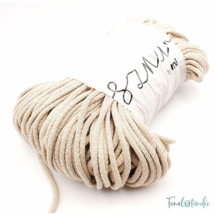 MILA Sznur cotton cord - light beige - pamut zsinórfonal - halvány drapp - 5mm