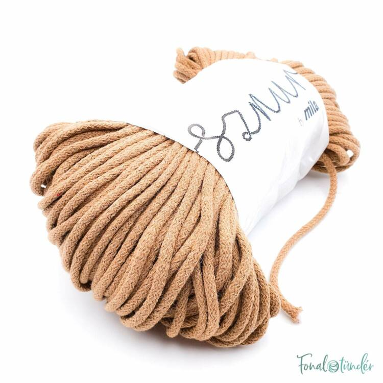 MILA Sznur cotton cord - toffee - pamut zsinórfonal - karamell színű - 5mm