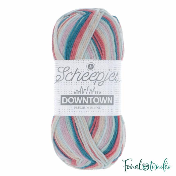 Scheepjes Downtown 412 Museum Square - pink-kék -  gyapjú fonal - wool yarn blend
