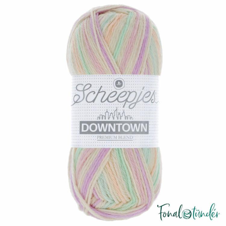 Scheepjes Downtown 413 Baker's Corner - pasztel rózsaszín-zöld -  gyapjú fonal - wool yarn blend