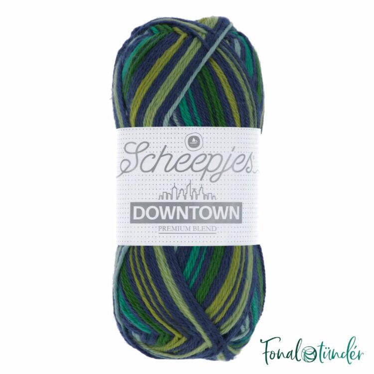 Scheepjes Downtown 417 Lakeside - zöld és kék gyapjú fonal - wool yarn blend