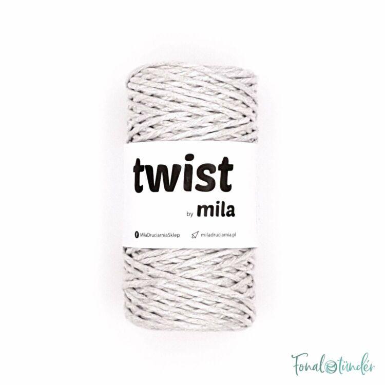 MILA Twist cotton cord - light gray - sodort pamut zsinórfonal - világos szürke - 3mm
