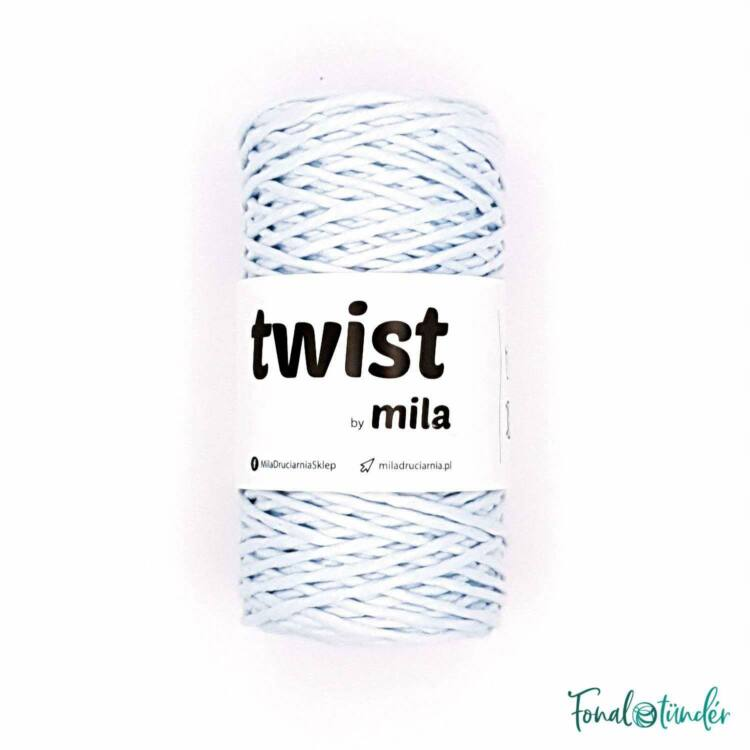 MILA Twist cotton cord - light blue - sodort pamut zsinórfonal - világoskék - 3mm