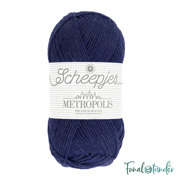 Scheepjes Metropolis 002 Glasgow - kékes lila gyapjú fonal - blue-purple wool yarn