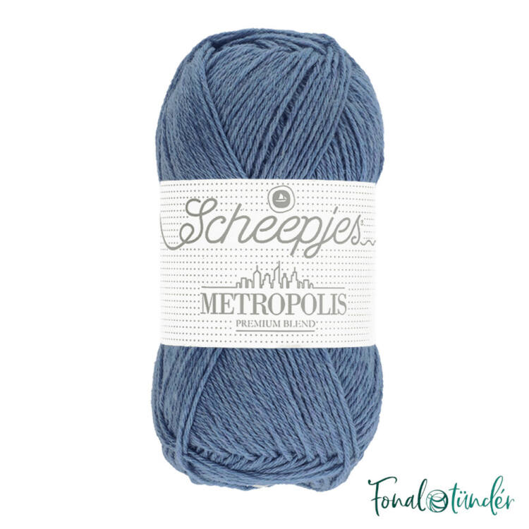 Scheepjes Metropolis 004 Kabul - kék gyapjú fonal - blue wool yarn