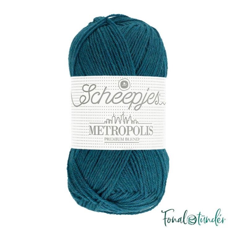 Scheepjes Metropolis 010 Ankara - türkizes kék gyapjú fonal - blue wool yarn