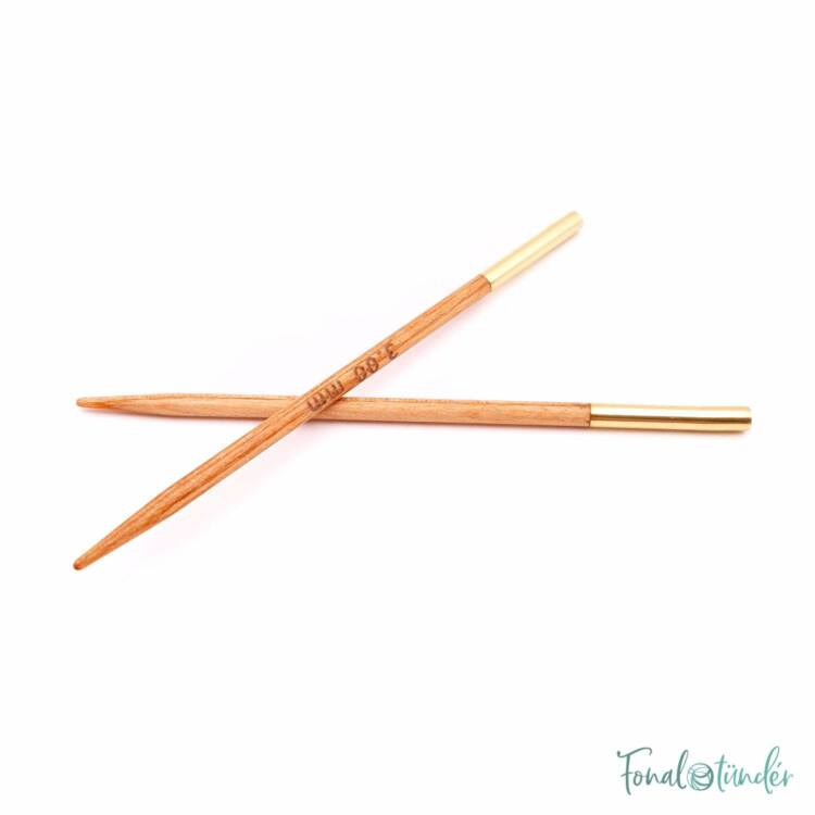 KnitPro Basix Birch - körkötőtű fej - knitting needle tip - 8.5cm - 3mm