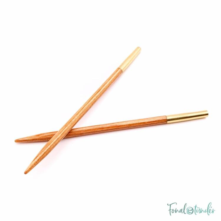 KnitPro Basix Birch - körkötőtű fej - knitting needle tip - 8.5cm - 3.5mm
