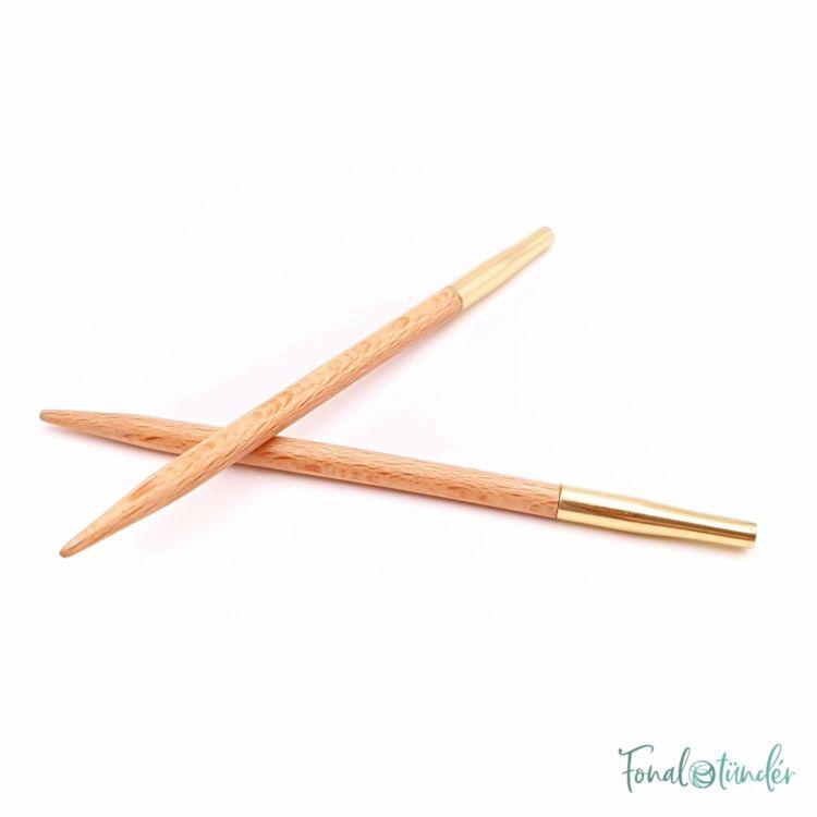KnitPro Basix Birch - körkötőtű fej - knitting needle tip - 8.5cm - 4mm