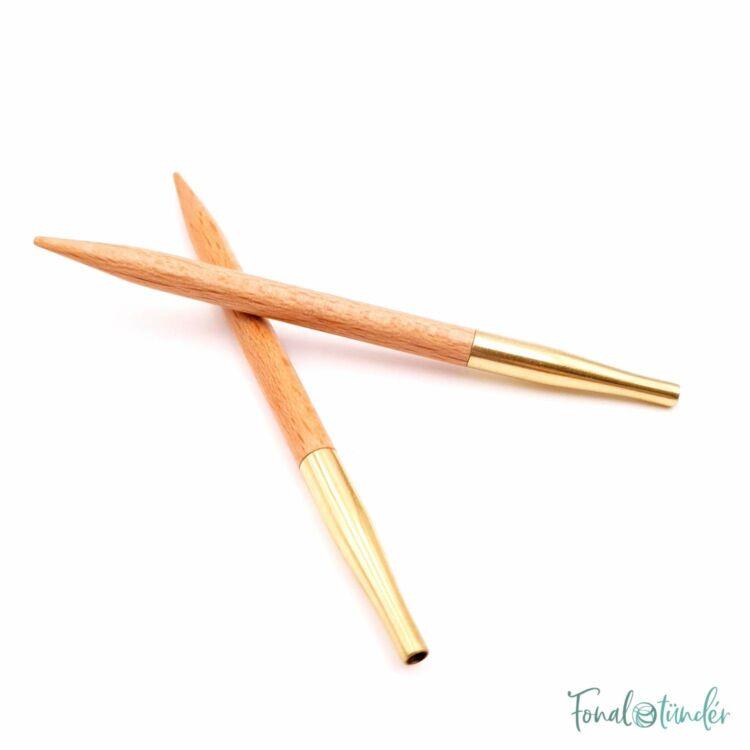 KnitPro Basix Birch - körkötőtű fej - knitting needle tip - 8.5cm - 5mm