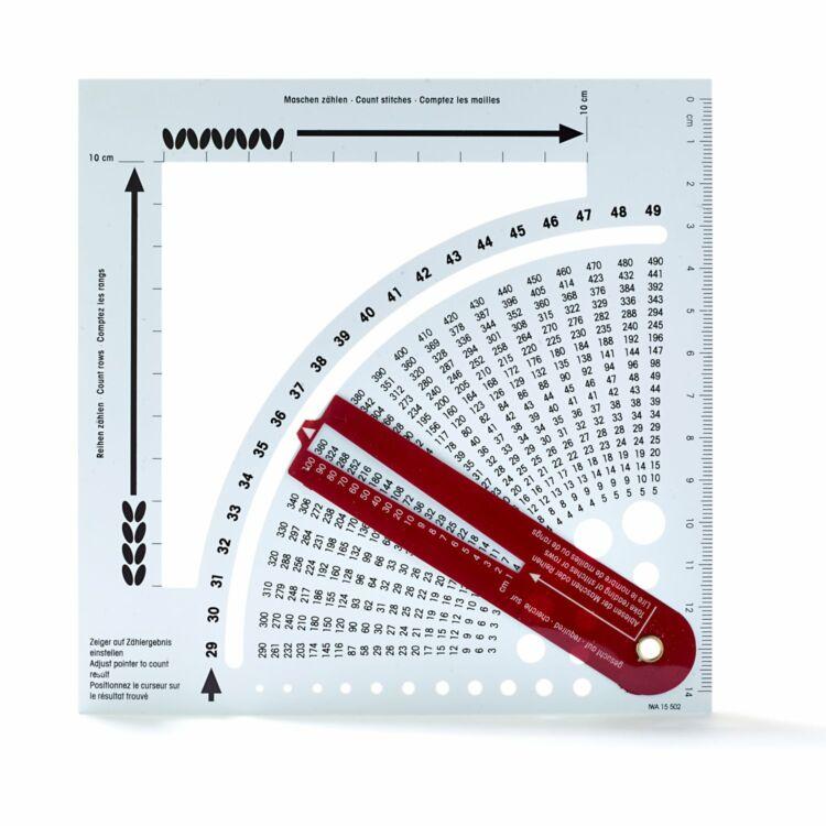 Prym - sor- és szemszámoló vonalzó és kalkulátor - counting frame and calculator