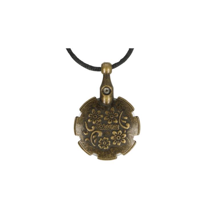 Scheepjes Yarn Slicer Nacklace - fonalvágó nyaklánc - bronz