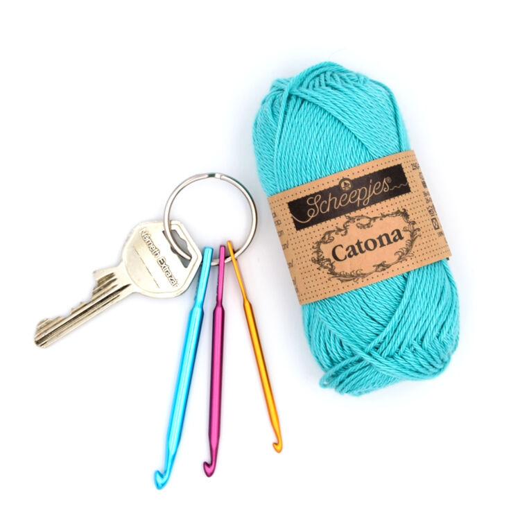 Kulcstartós mini horgolótű készlet - Key chain crochet hooks 3-4-5mm