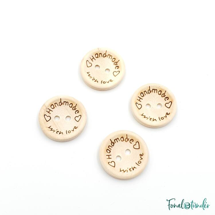 Fa gombok - Wooden buttons - Handmade with love - 20mm