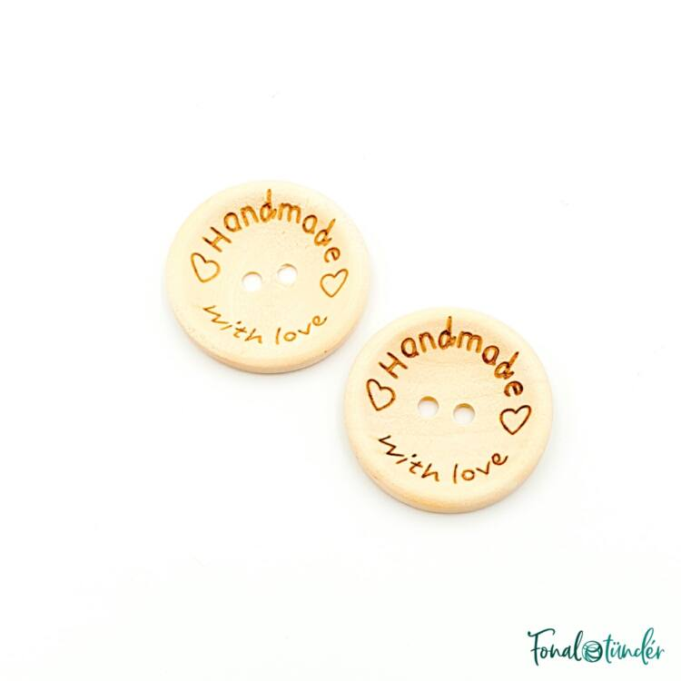 Fa gombok - Wooden buttons - Handmade with love - 25mm
