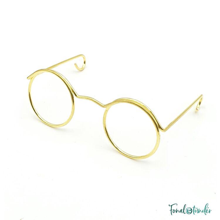 Arany szemüveg  amigurumi figurákhoz- Gold Glasses - for amigurumi toys