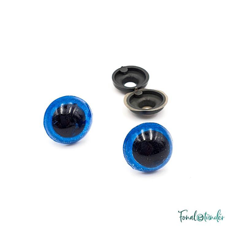 Kék baba/figura szemek - biztonsági - Blue safety eyes -14mm