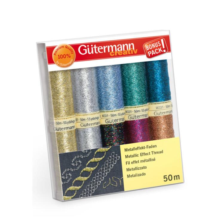 Gütermann Creativ set - Metallic Effect - metálfényű dekor varrócérna készlet