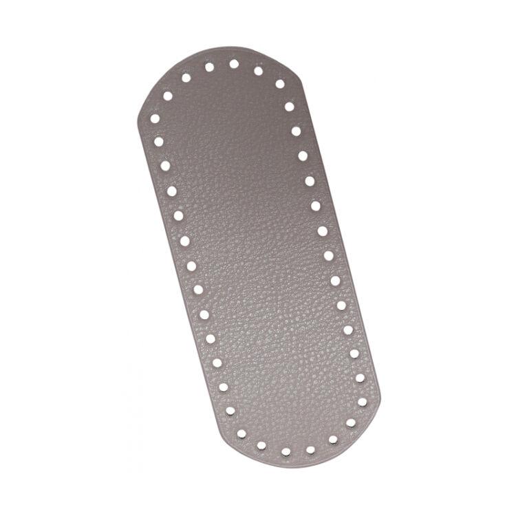 Bag Bottom - vegan leather - táska alap / alj - szürke vegán bőr -21x8cm