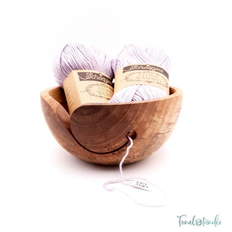 Kézműves Diófa Fonalvezető Tál - Handmade Wooden Yarn Bowl