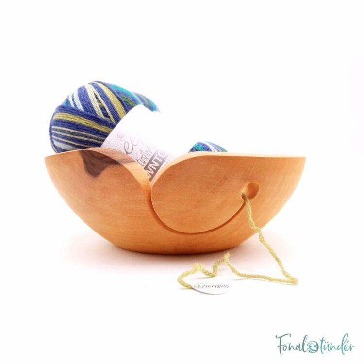 Kézműves Diófa Fonalvezető Tál - Handmade Wooden Yarn Bowl - 20cm