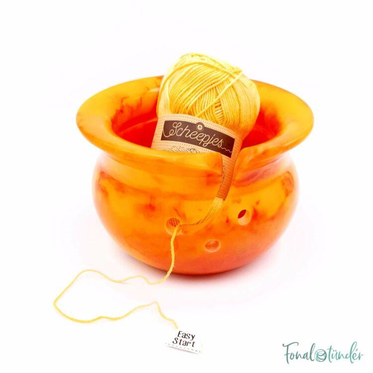 Scheepjes Narancs Fonaltartó Tál - Orange Yarn Bowl - 14cm