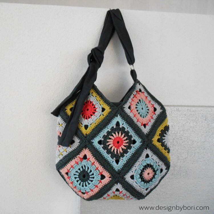 Boho Bag - crochet pattern - táska - horgolásminta