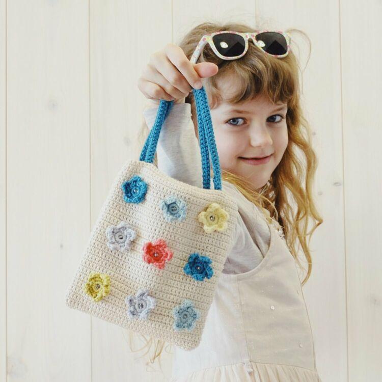 Girl Flower Garden Bag - crochet pattern - Virágoskert kistáska - horgolásminta