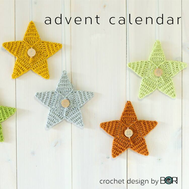 Adventi Csillag Kalendárium - horgolás minta - Advent Star Calendar - crochet pattern