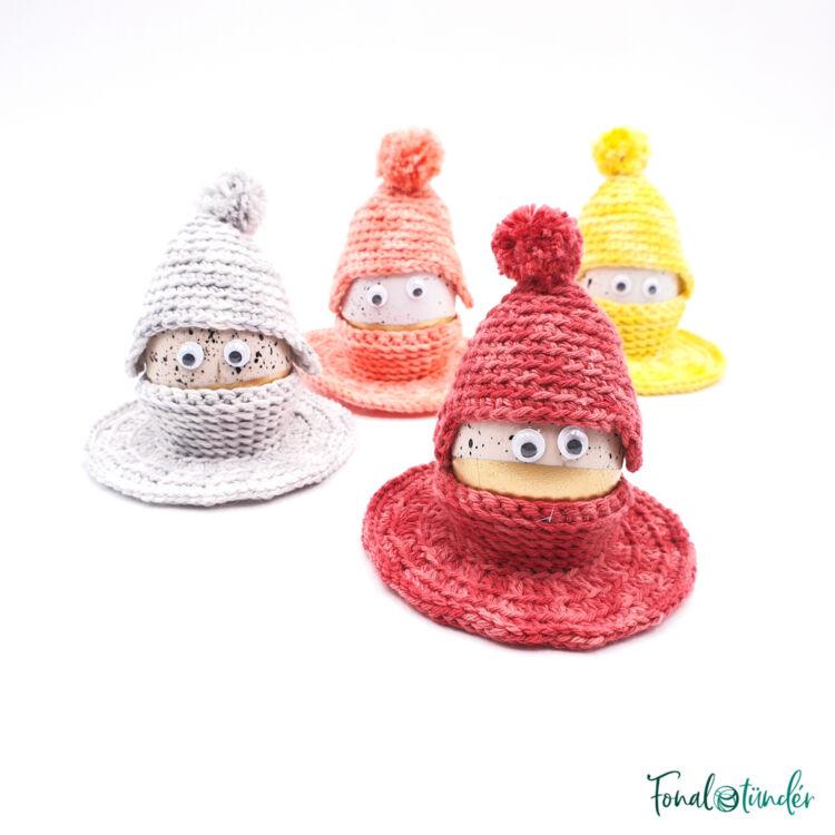 Vidám Húsvéti Tojástartók - horgolás minta - Funny Ester Egg Holder - crochet pattern