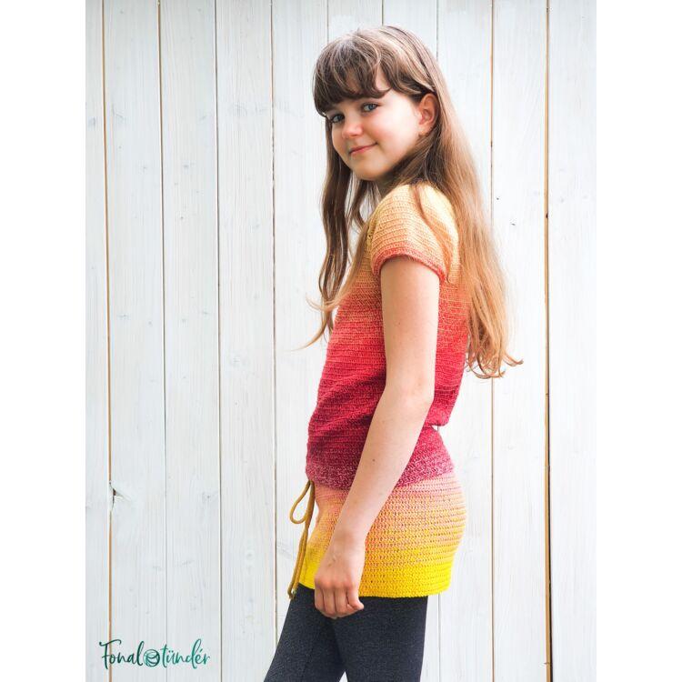Tutti Frutti Girl Dress - crochet pattern -Tutti Frutti Ruha - horgolásminta