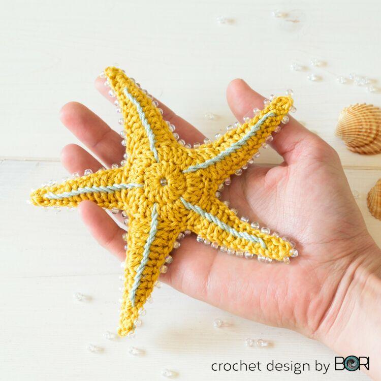 Starfish - crochet pattern - Tengeri Csillag - horgolásminta