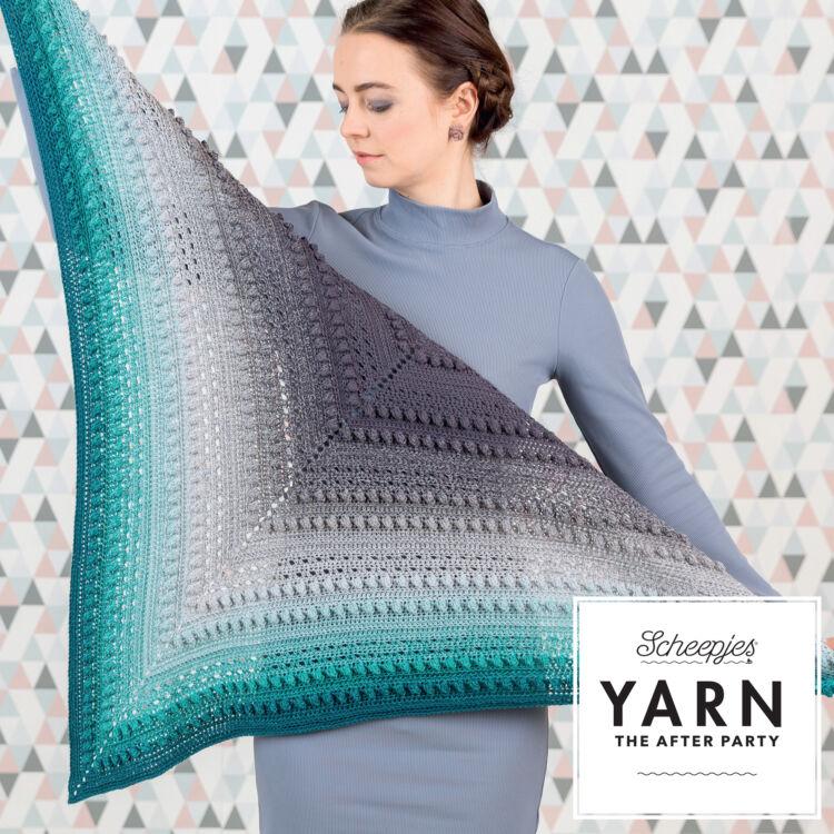 Scheepjes - Stormy Day Shawl - Türkiz Teadélután Vállkendő - horgolásminta - crochet pattern